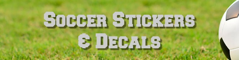 Soccer decals and stickers