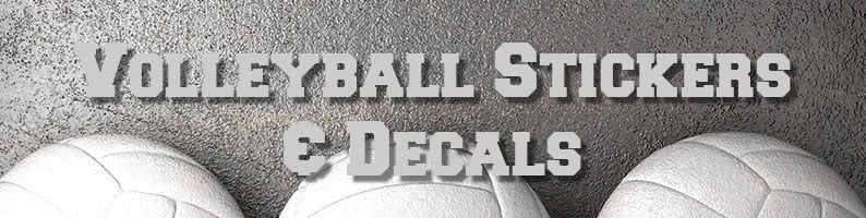 Volleyball decals and stickers