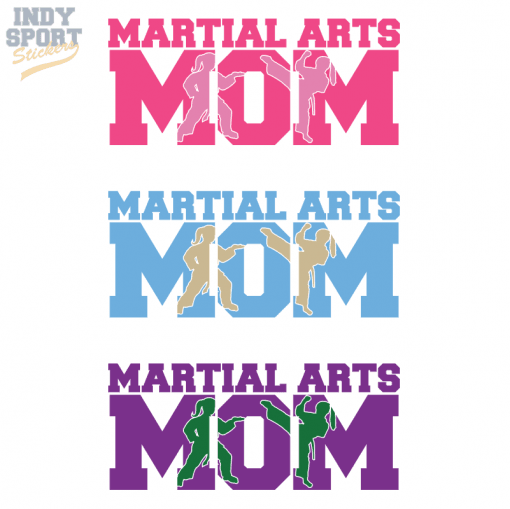 Multiple Color Martial Arts Vinyl Decal Stickers