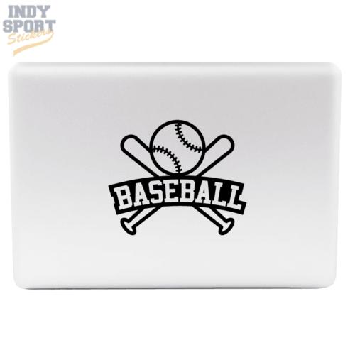 Baseball Bats & Ball with Text Decal Sticker for Laptop