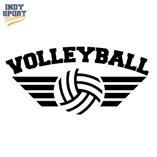 Silhouette Volleyball Decal for cars, windows, laptops and more