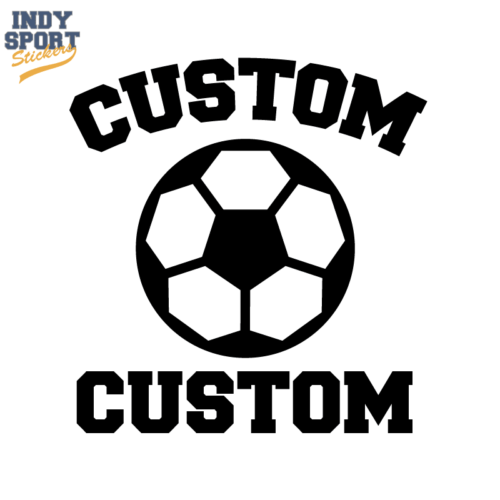Soccer Ball Silhouette with Striker Text